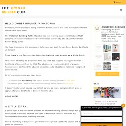 Become Certified Owner Builder in Victoria - The Owner Builder Club