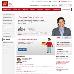 Home Ownership: Advice on buying a house from CIBC