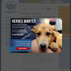 U.S. Pet Ownership and Shelter Population Estimates