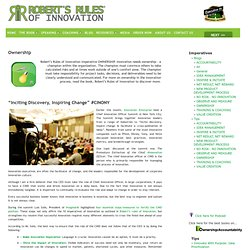 Roberts Rules of Innovation