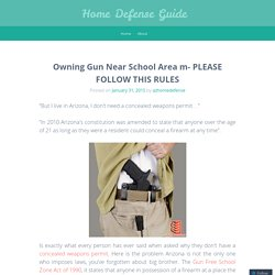 Owning Gun Near School Area m- PLEASE FOLLOW THIS RULES