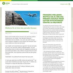 Pétition Oxfam : contre les paradis fiscaux
