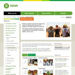 Oxfam - Working at Oxfam