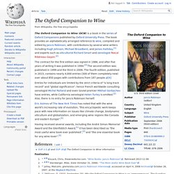 The Oxford Companion to Wine - Wikipedia
