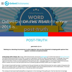 Oxford Dictionaries Word of the Year 2016 is...
