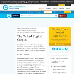 The Oxford English Corpus