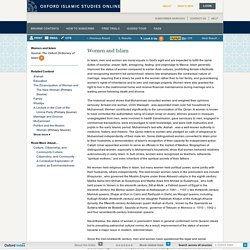 Women and Islam - Oxford Islamic Studies Online