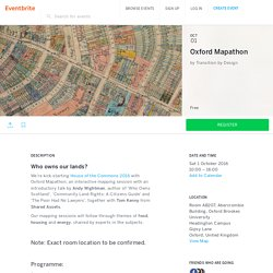 Oxford Mapathon Tickets, Sat, 1 Oct 2016 at 10:00