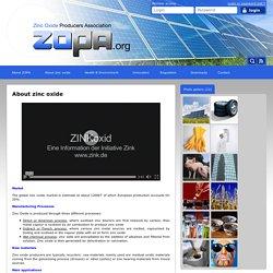 Zinc Oxide Producers Association - ZOPA - About zinc oxide