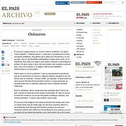 Oxímoron · ELPAÍS.com