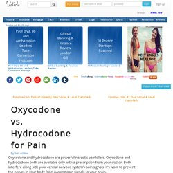 Oxycodone vs hydrocodone for pain