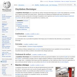 Oxydation thermique