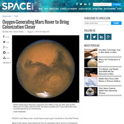 Oxygen-Generating Mars Rover to Bring Colonization Closer
