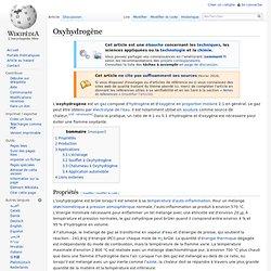 Oxyhydrogène