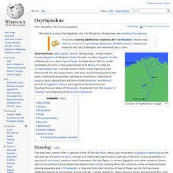 Oxyrhynchus