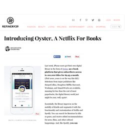Oyster iPhone Digital E-Library App
