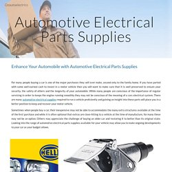 A Place to Buy Auto Electrical Parts Supplies Online