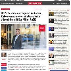 HDZ i desnica u ozbiljnom su kaosu. Kako se mogu reformirati analizira utjecajni analitičar Milan Račić – Telegram.hr