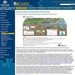 OzCoasts Conceptual model: Aquatic sediments (changed from natural) model