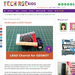 Ozobot gets a LEGO Chariot