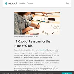 19 Ozobot Lessons for the Hour of Code
