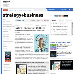 P&G's Innovation Culture
