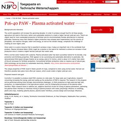 P16-40 PAW - Plasma activated water