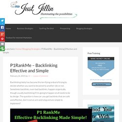 P1RankMe - Backlinking Effective and Simple