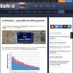 Le P2P baisse… mais le DDL et le VPN augmentent