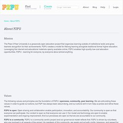 Peer 2 Peer University / About P2PU