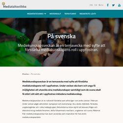 På svenska - Mediataitoviikko