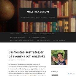 Läsförståelsestrategier på svenska och engelska