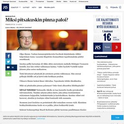 Miksi pitsakuskin pinna paloi? - Pääkirjoitukset - Pääkirjoitus - Helsingin Sanomat