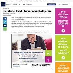 Hallitus ei kaadu turvapaikanhakijoihin - Pääkirjoitukset - Pääkirjoitus