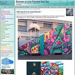 Pablito Zago fait le mur au lycée René Char ! - Lycée René Char - Avignon