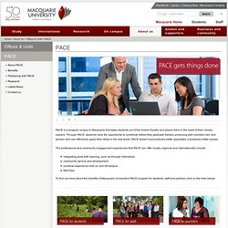 PACE - Macquarie University