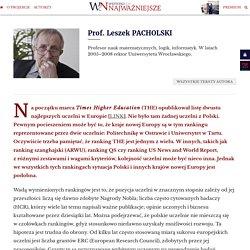 Prof. Leszek PACHOLSKI: Strategiczne błędy blokują polską naukę
