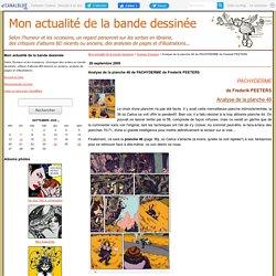 Analyse de la planche 46 de PACHYDERME de Frederik PEETERS - Mon actualité de la bande dessinée