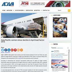 Asia-Pacific carriers show decline in April load factor: IATA