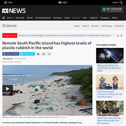 Remote South Pacific island has highest levels of plastic rubbish in the world - Science News - ABC News