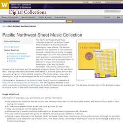 Pacific Northwest Sheet Music Collection