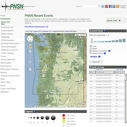 Earthquake Map | Pacific Northwest Seismic Network