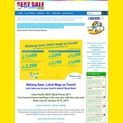 Cebu Pacific Promo Tickets Sydney