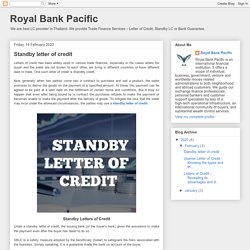 Standby letter of credit (blogspot)