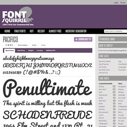 Free Font Pacifico by Vernon Adams