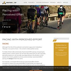 Pacing with Perceived Effort
