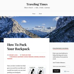 How To Pack Your Backpack – Traveling Times