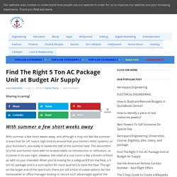 Find The Right 5 Ton AC Package Unit at Budget Air Supply - Clinkcareer