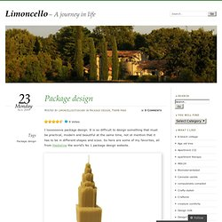 Package design « Limoncello