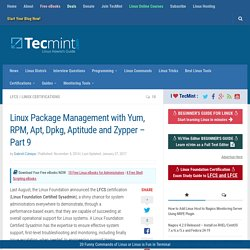 Linux Package Management with Yum, RPM, Apt, Dpkg, Aptitude and Zypper - Part 9